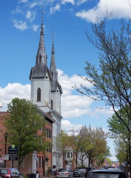 The Lutheran Church spires.